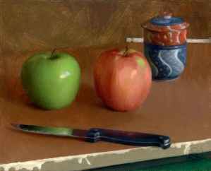 Apples, 8 x 10 inches, oil on panel