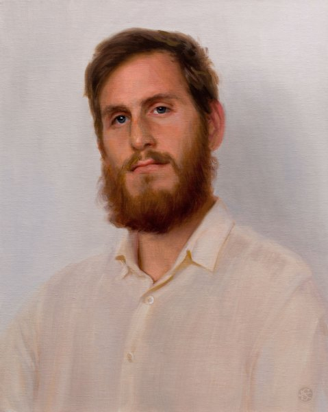 Portrait of Luis, 16 x 20 inches, oil on panel