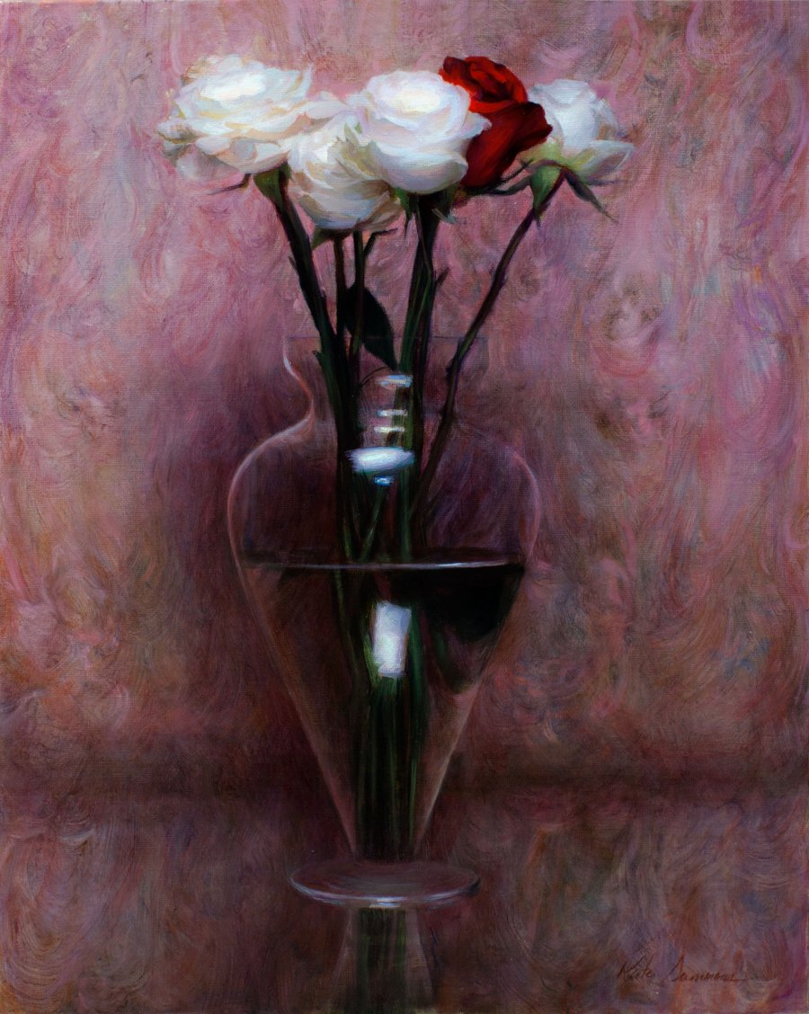 Bohemian Roses, 14x18, oil on panel by Kate Sammons