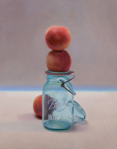 Peachy, 11 x 14 inches, oil on panel by Kate Sammons