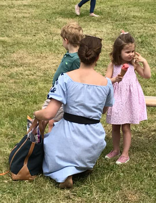 Duchess of Cambridge Kate Middlton with Prince George and Princess Charlotte at Houghton International Horse trials 2018