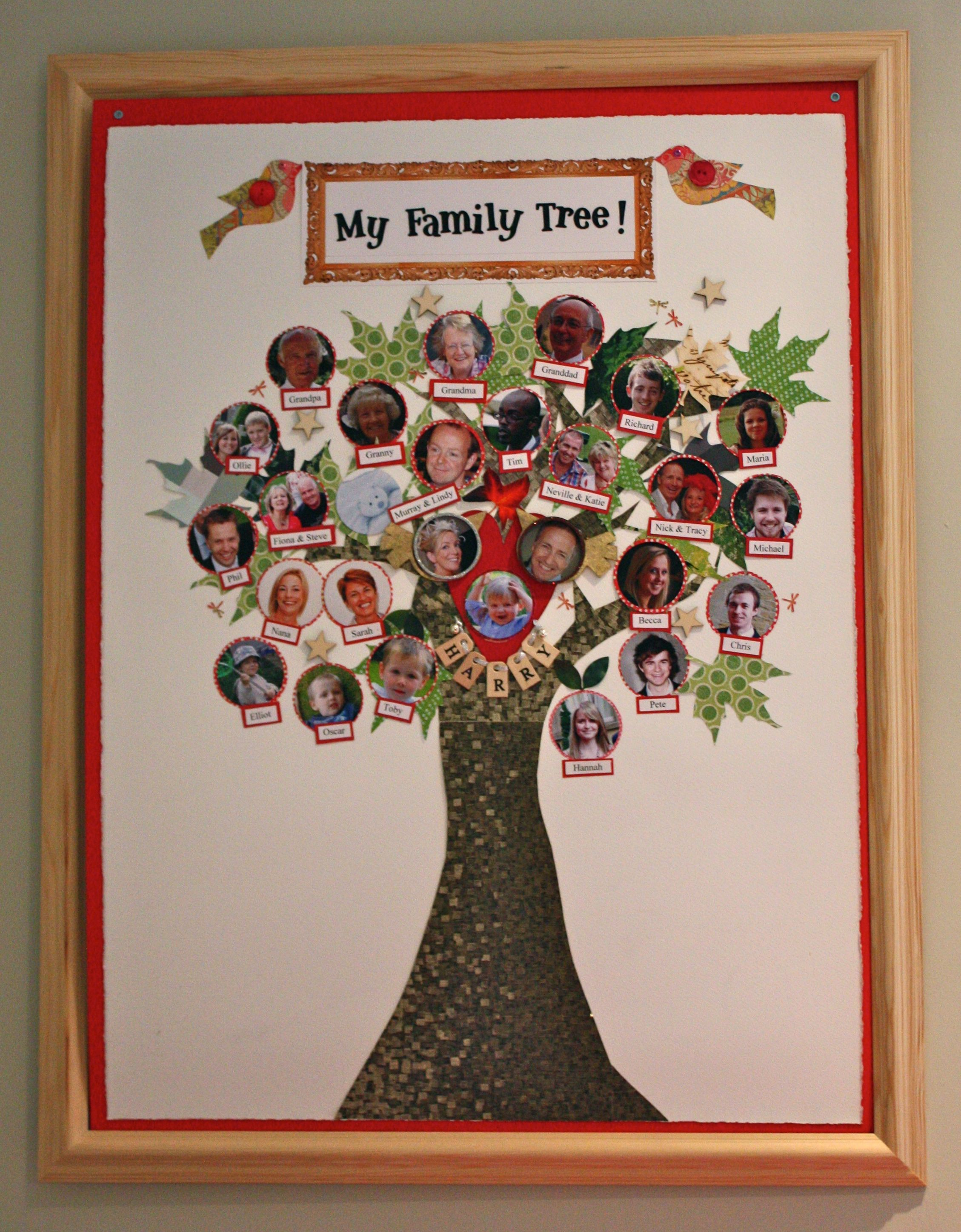 Homemade Family Tree