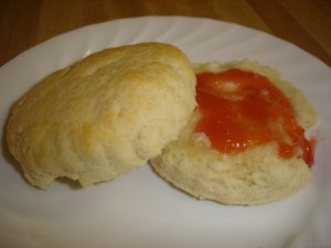 Grandma's Easy Biscuits with Strawberry Jam
