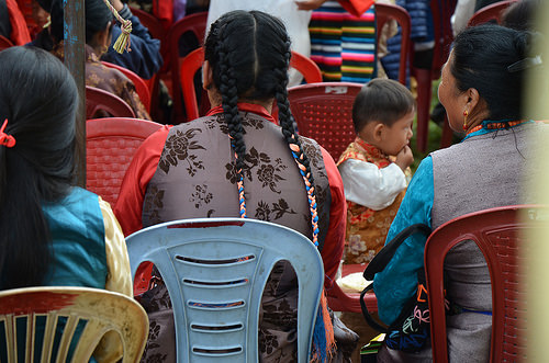 People at the Tashiling Refugee Camp 50th Anniversary celebration in Pokhara, Nepal.
