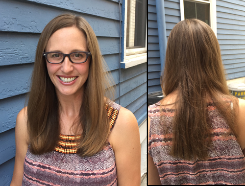 My hair after using Renew shampoo and conditioner by Monat.