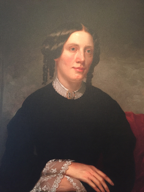Portrait of Harriet Beecher Stowe that is hanging in the Harriet Beecher Stowe house in Cincinnati, Ohio.