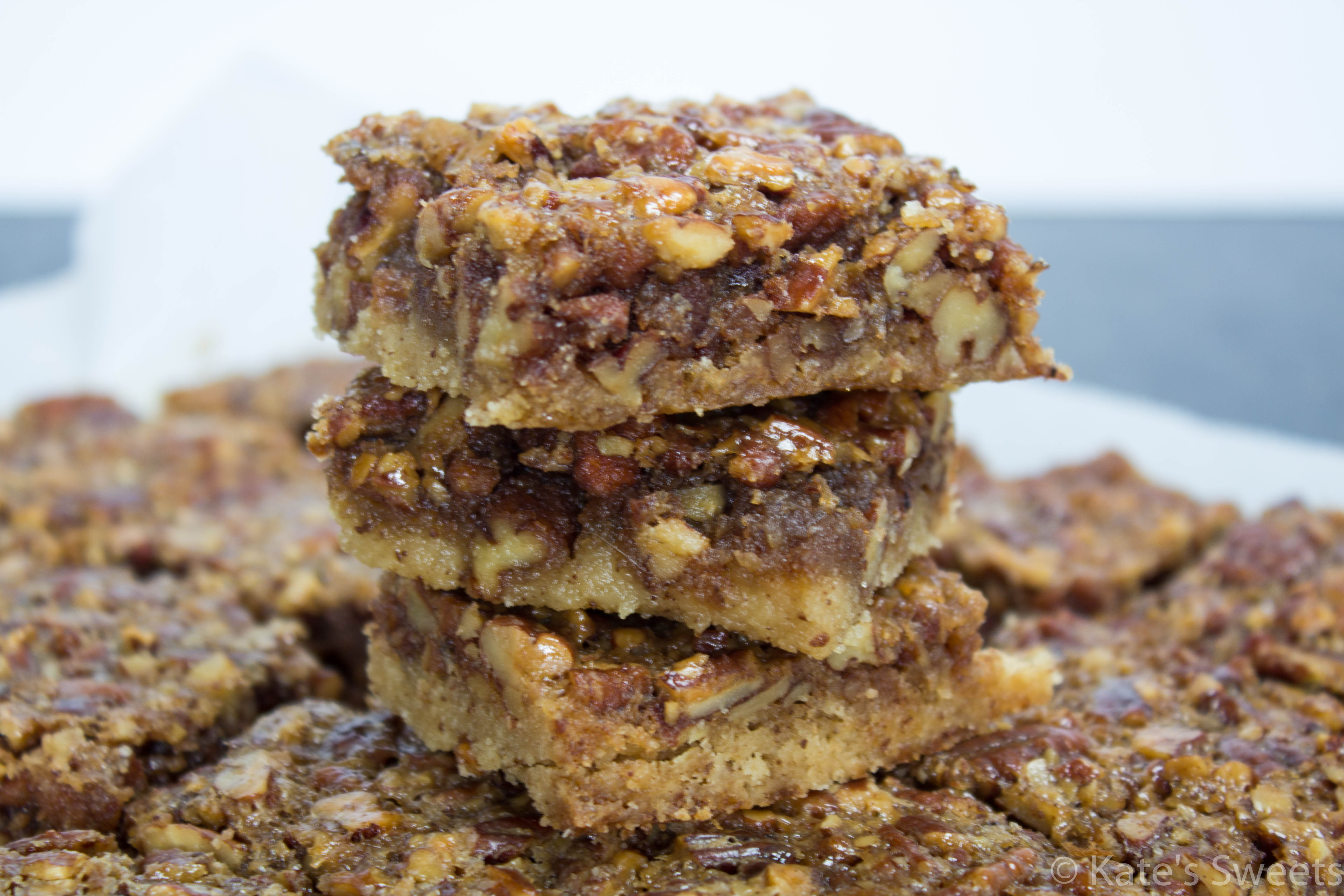 Pecan Pie Bars with Brown Butter Crust