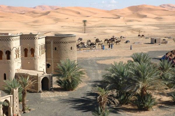 luxury hotel desert
