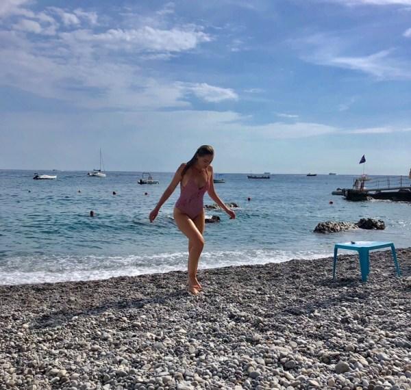 Spiaggia Duoglio beach in amalfi