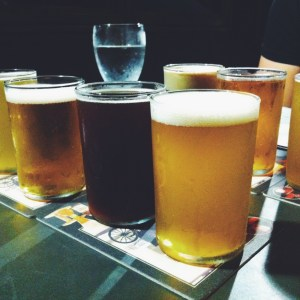 beer flights at sidecar bar