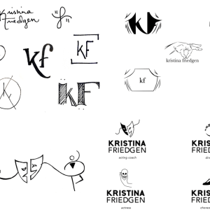 The Process of Designing Kristina Friedgen's Logo