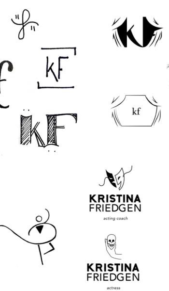 The Process of Designing Kristina Friedgen's Logo