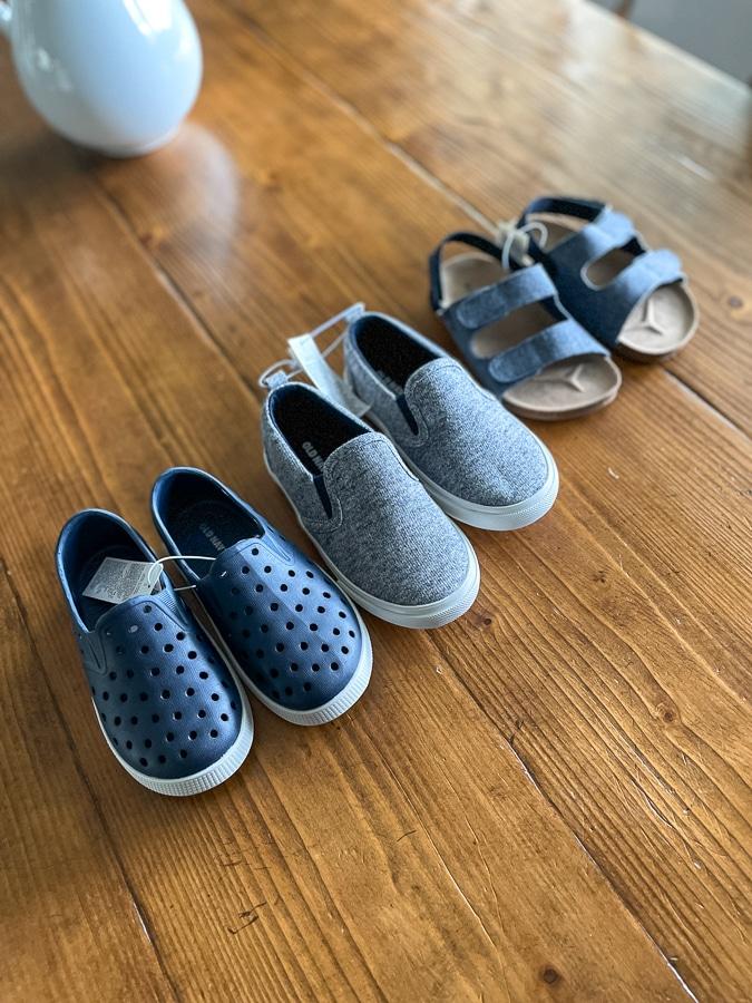 summer shoes for kids assortment