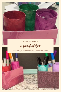 how to make a pen holder pin