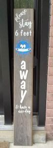 unwelcome door sign