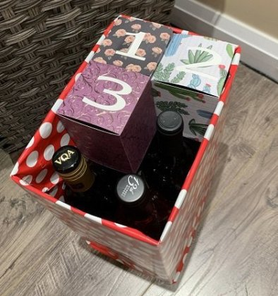wine advent calendar assembly