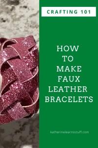 faux leather bracelet pin
