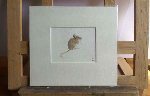 Field Mouse watercolour painting