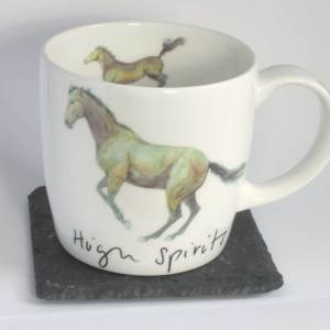High Spirits Horse Mug, fine bone china mug Hudson and Middleton