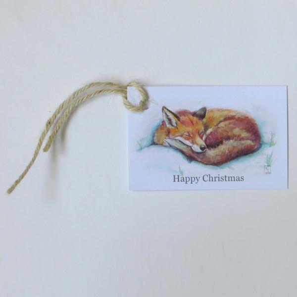 fox christmas gift tags