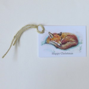 fox christmas gift tags