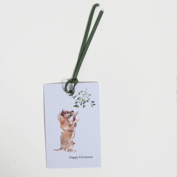 terrier christmas gift tags