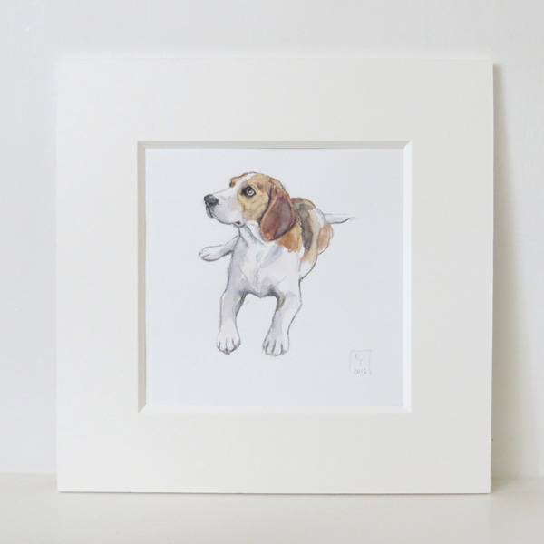 beagle watercolour illustration
