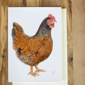 chicken greetings card
