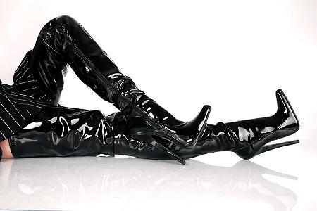 Crotch Overkneestiefel schwarz