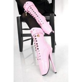 Kassiopeya 913033369 Lack Ballettstiefel / Stiefeletten pink-rosa