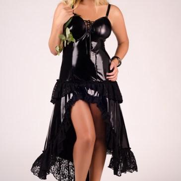 M/1023 schwarzes langes Kleid von Andalea Dessous
