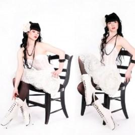 Lack Ballett – Stiefeletten Weiß