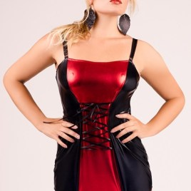 M/1024 schwarz/rotes Strapshemd von Andalea Dessous