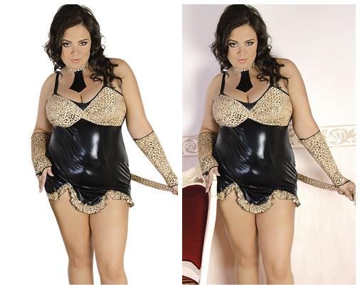 4-teiliges Leopraden Outfit von Andalea Dessous