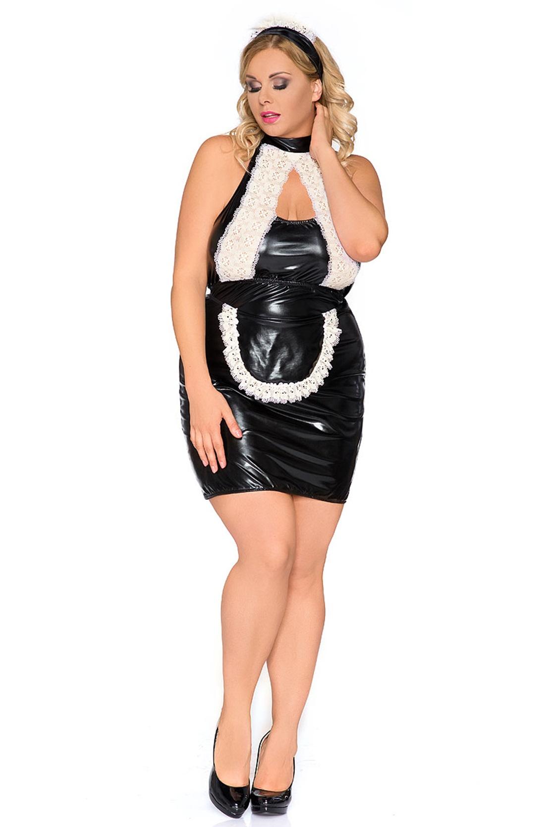 Z/5010 schwarz/weißes Kellnerin Outfit von Andalea Dessous