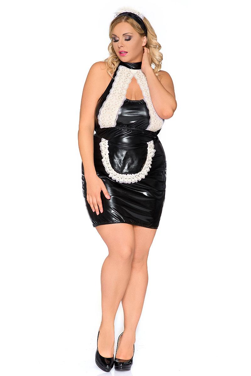 schwarz/weißes Kellnerin Outfit Z/5010 von Andalea