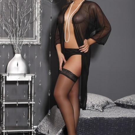 M/1060 schwarzer langer Morgenmantel Delicate Sophie von Andalea Dessous EAN: 5903181027208