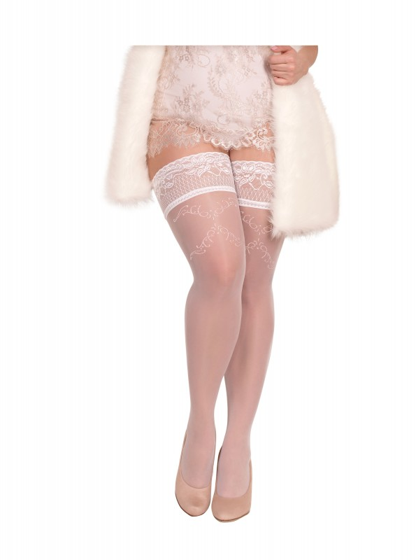 BS Art. 360 halterlose Strümpfe weiß 20DEN Ballerina Size Plus