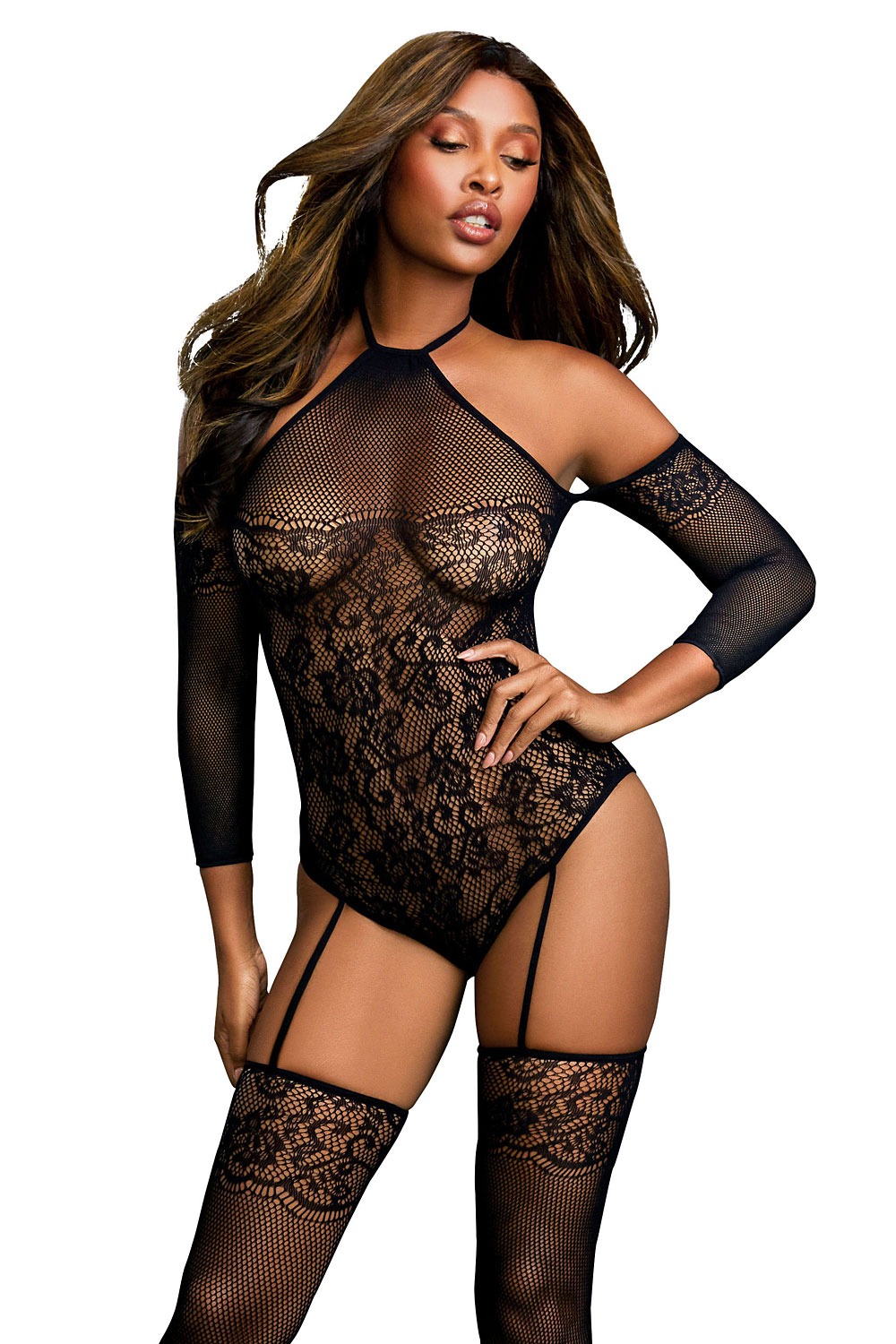 DR0310 Bodystocking – Black Diamond Style schwarz von Dreamgirl – 4053015433291