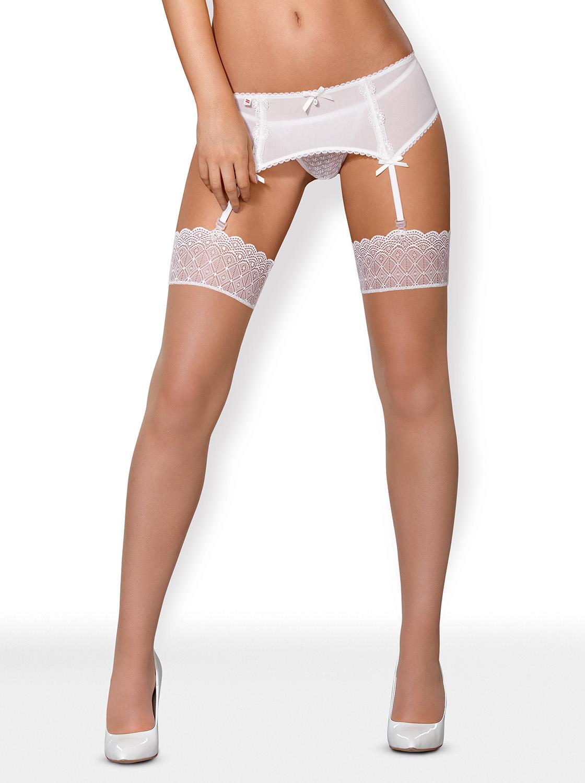 843-STO-2 Stockings weiß von Obsessive – 5901688215845