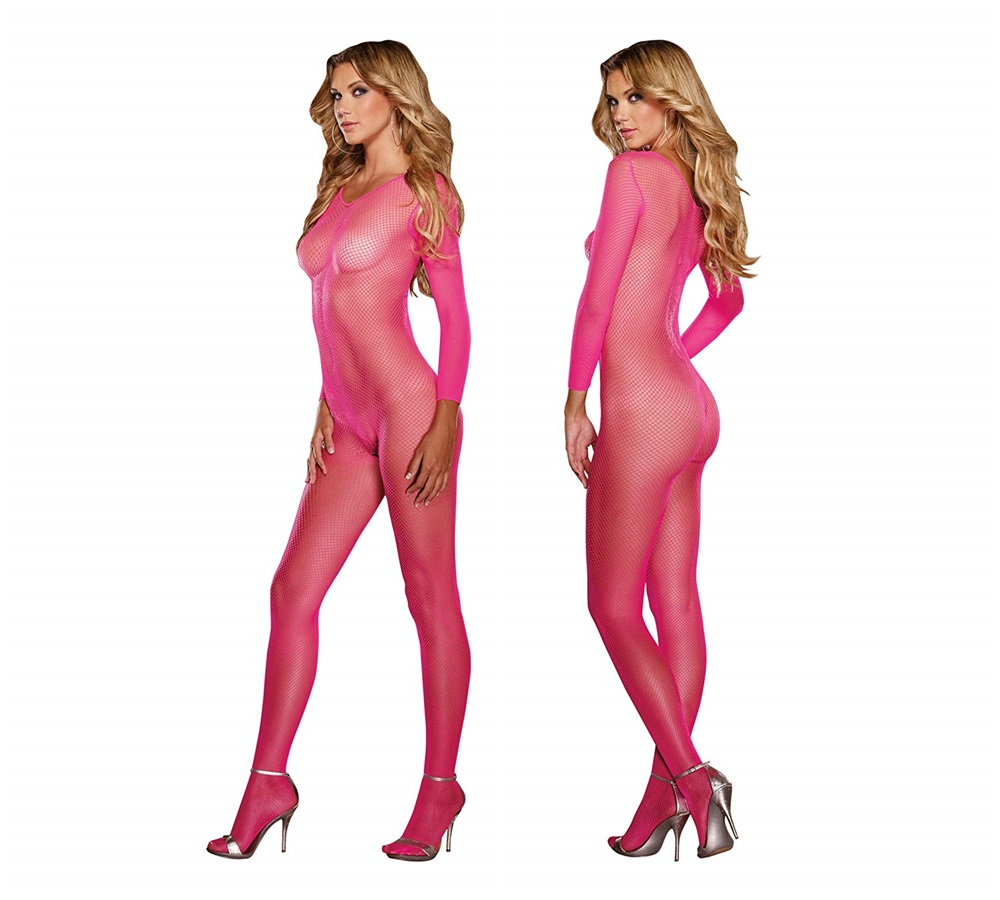 0015 Bodystocking – Black Diamond Style neon pink – 4053015000233