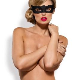 A700 Guipure-Maske schwarz von Obsessive