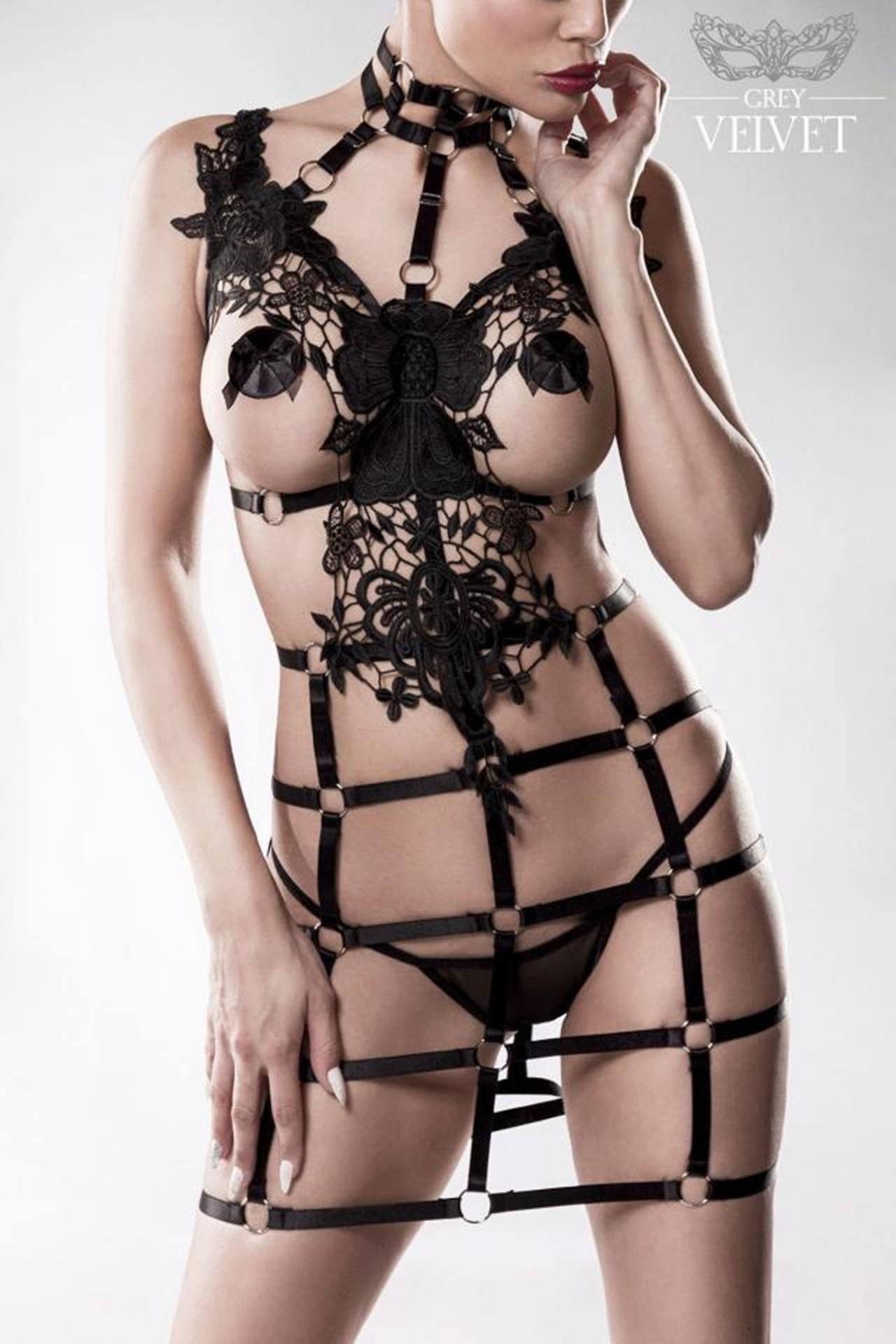 15235  2-teiliges Harness Set von Grey Velvet