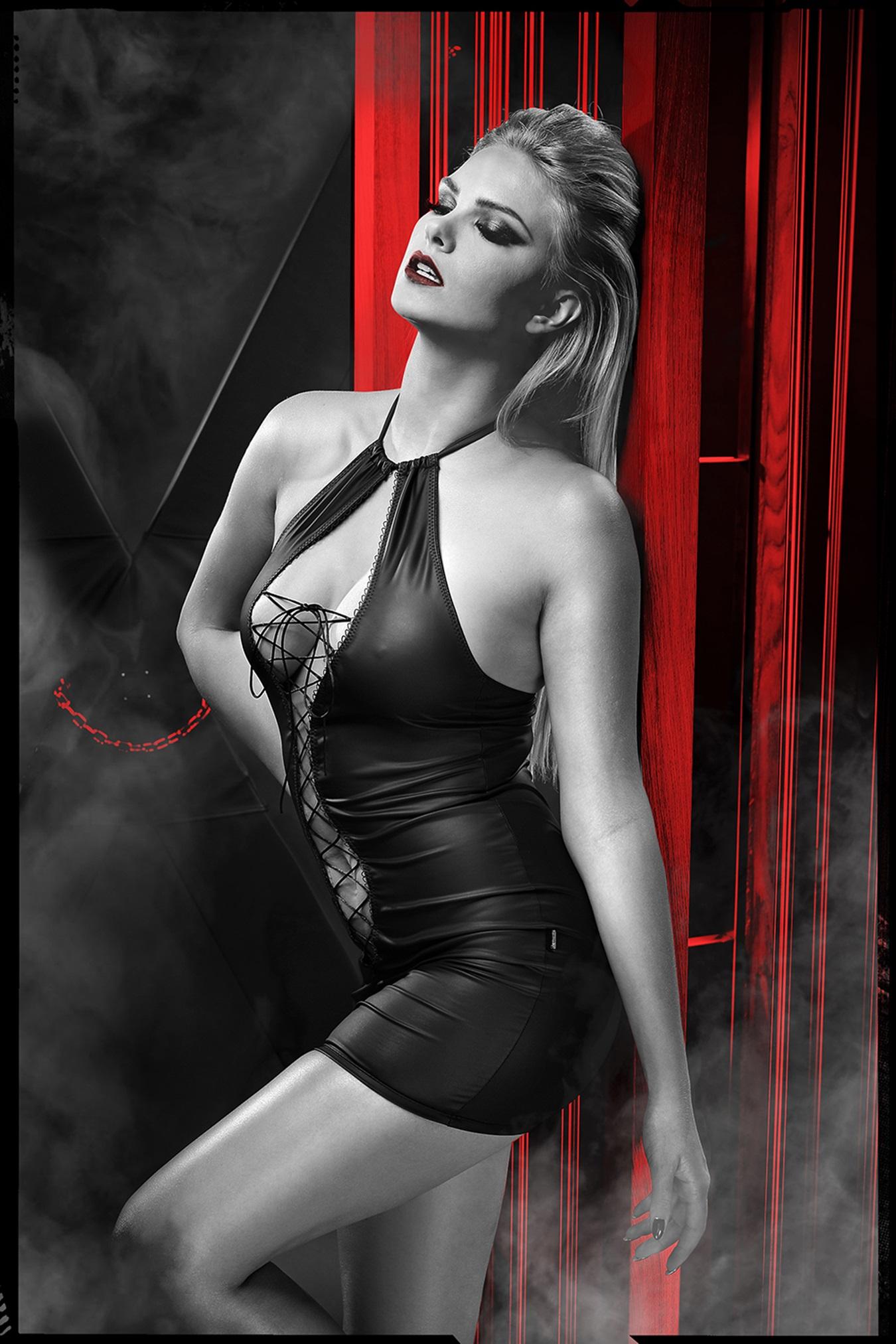 DDFojbe001 schwarzes Minikleid von Demoniq Dark Desire Collection