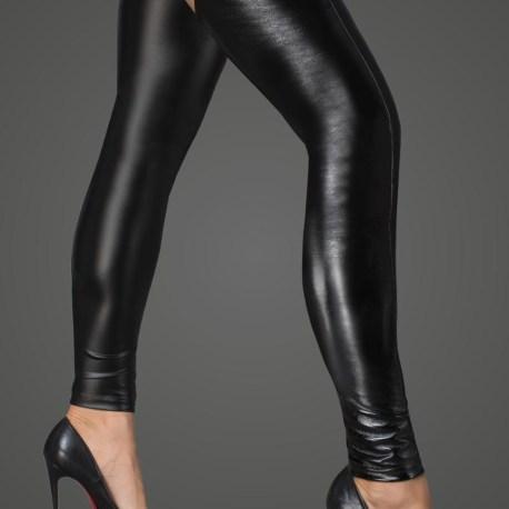 F196 Beinstulpen aus Powerwetlook und lackiertem Kunstleder von Noir Handmade Rebellious Collection EAN5903050104900
