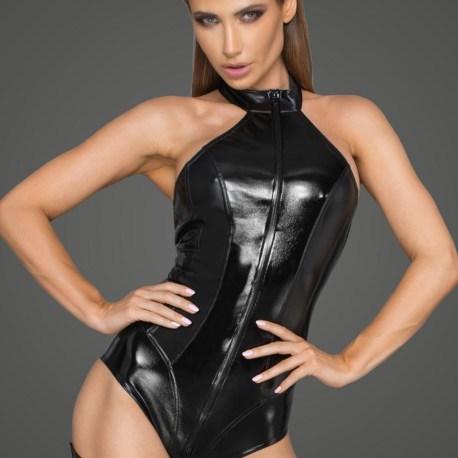 F198 Body aus Powerwetlook und lackiertem Kunstleder von Noir Handmade Rebellious Collection EAN5903050105020 (2)