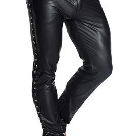 H039 Schwarze lange Hose von Noir Handmade