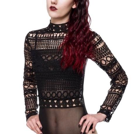 Gothic-Body schwarz aus Spitzevon Ocultica