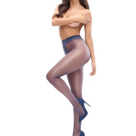 MI P101 Pantyhose open crotch dark blue 20den von Miss O