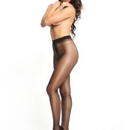 MI P101 pantyhose open crotch black 20den von Miss O